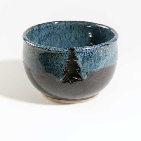 Blue/Black Knitting Bowl