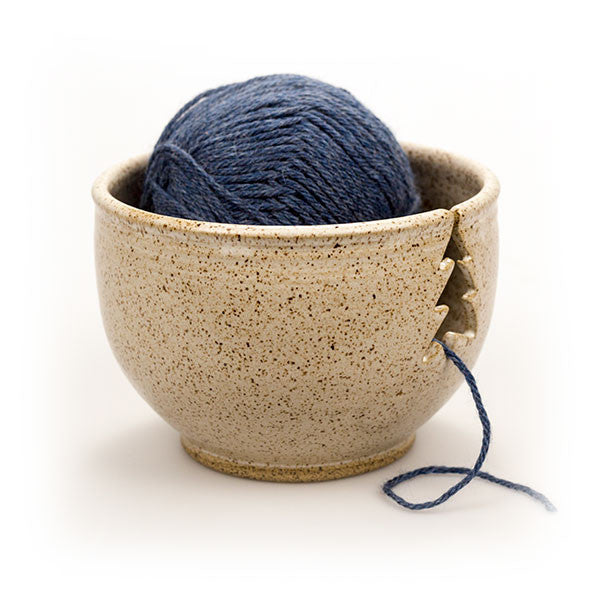Cream Knitting Bowl