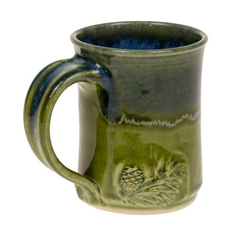Blue-Green Pottery Mug
