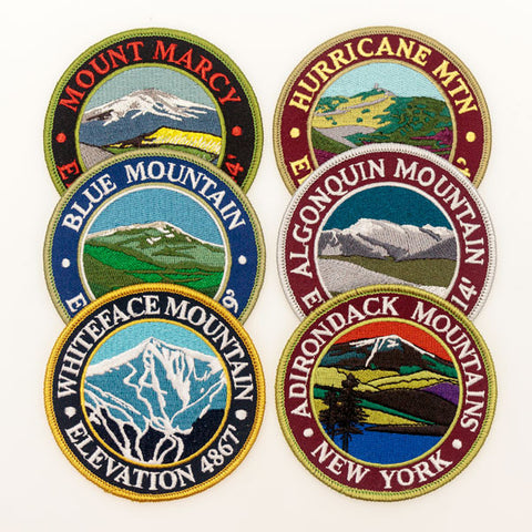 Set of Six Peaks Patches