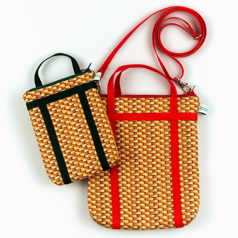 Small Pack Basket Cross Body Bag
