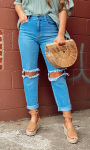 Girl Crush Jean - Medium Stone
