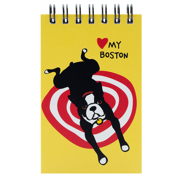 Boston on Rug Spiral Notepad