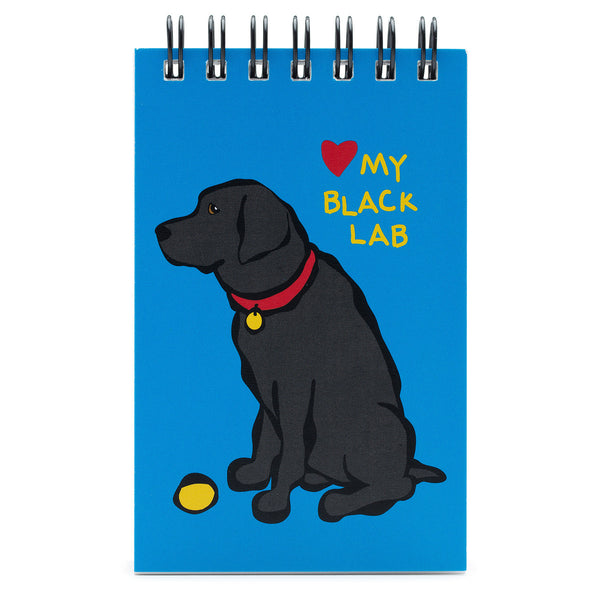 Black Lab Spiral Notepad