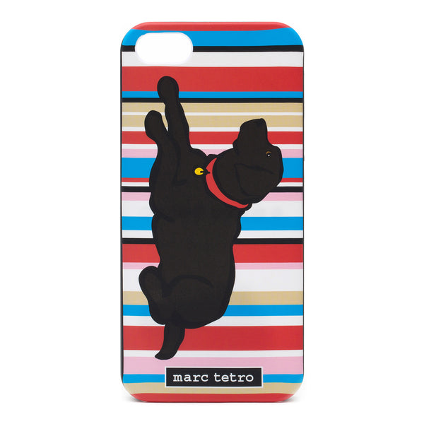 Black Lab on Stripes iPhone 5|5S Case