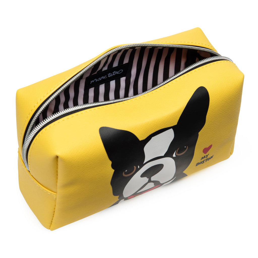Boston Terrier Large Cosmetic Case