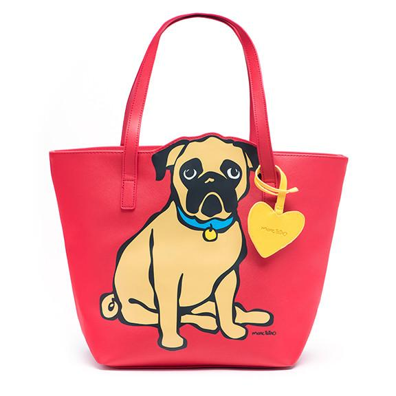 Pug Tote Bag with Dangle