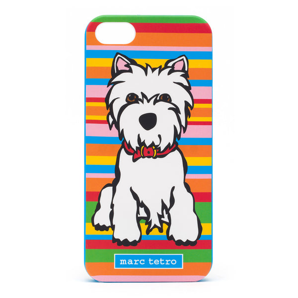 Westie on Stripes iPhone 5|5S Case