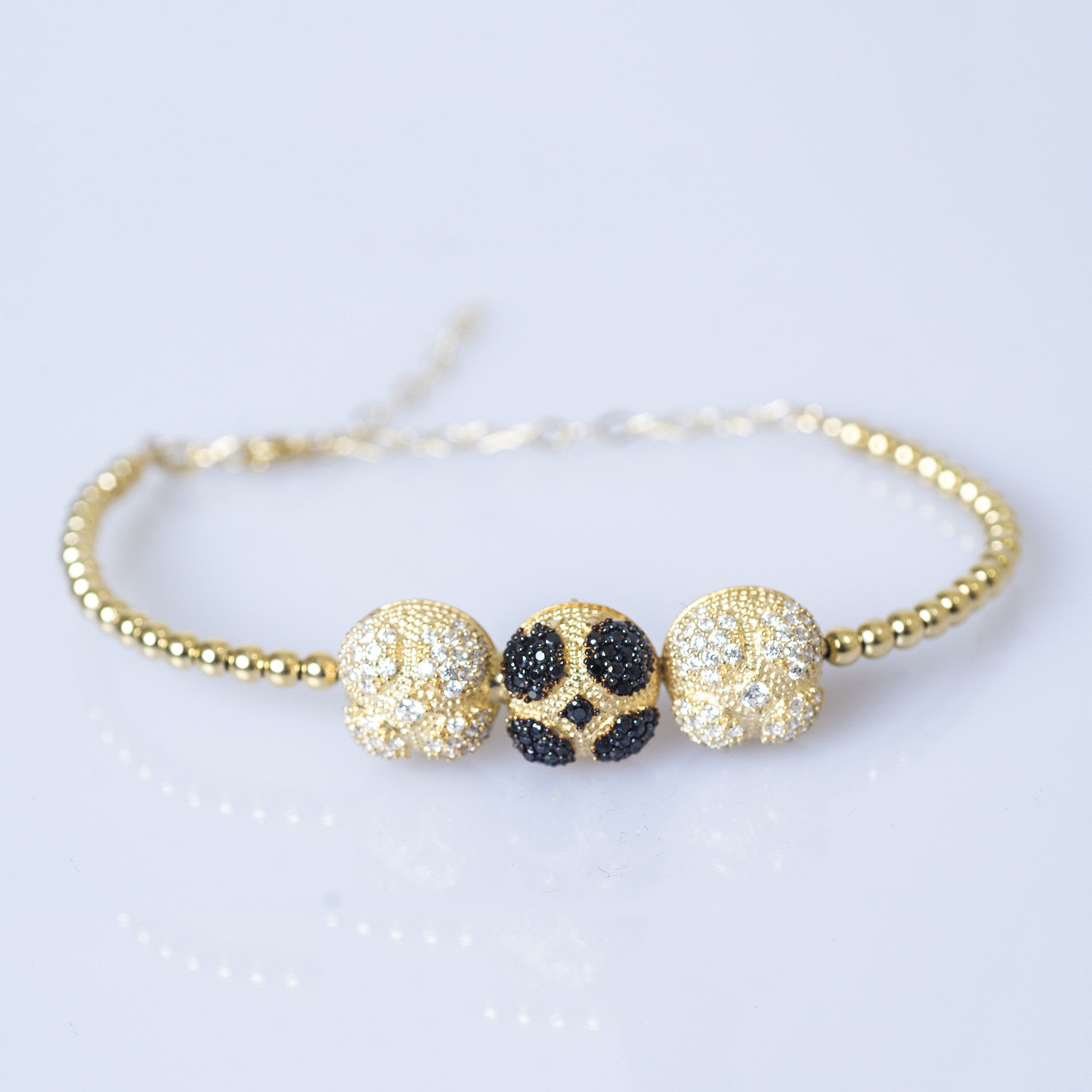 14ct Gold Bracelet with Crystal Elements