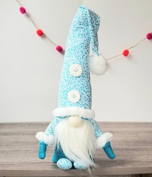 Soft Teal  Handmade Gnome