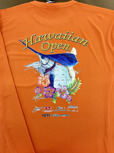 Hawaiian Open Grundens fishhead performance shirt