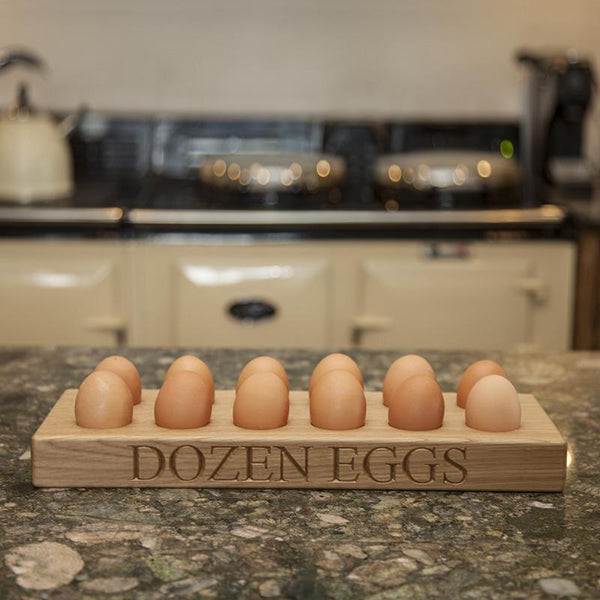 personalised wooden egg tray