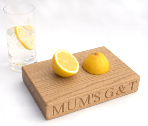 Gin & Tonic Chopping Board Personalised