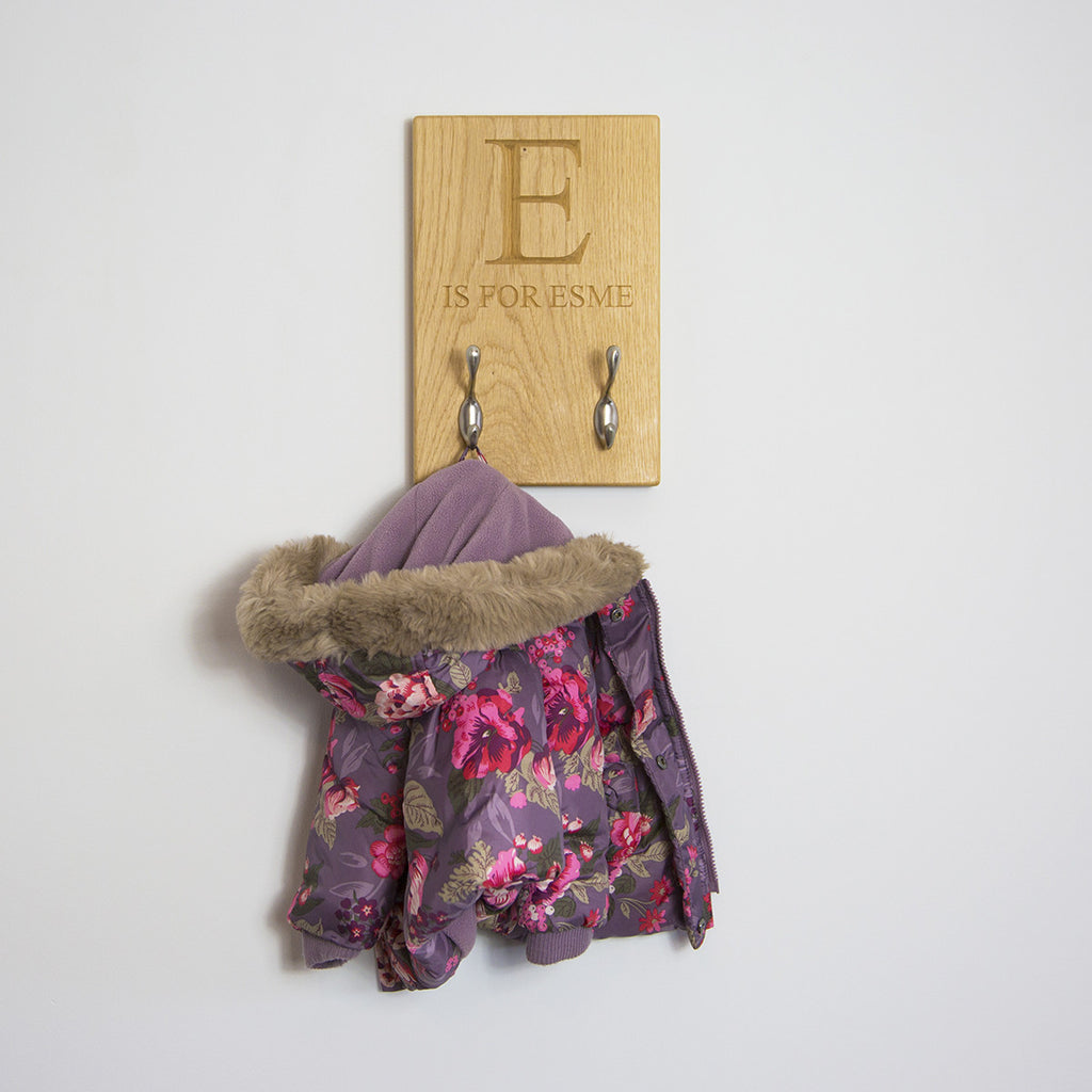 Children's Coat Hook - The Engraved Oak Company
