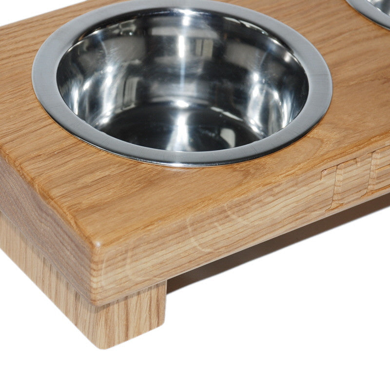 Medium Double Dog Bowl - The Engraved Oak Company