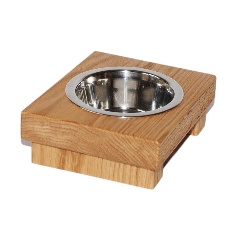 Medium Single Dog Bowl - The Engraved Oak Company