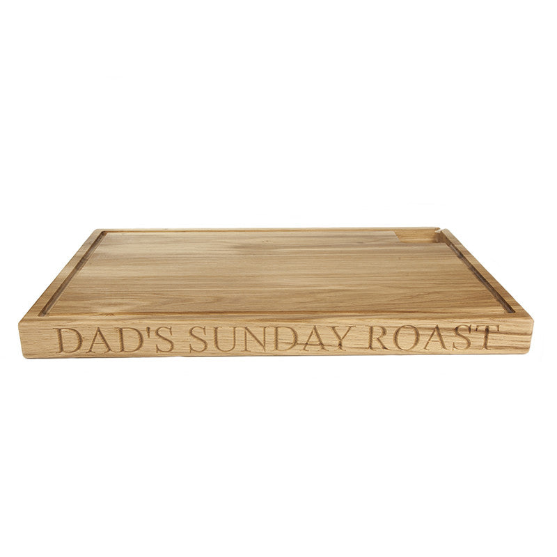Large personalised carving board - The Engraved Oak Company