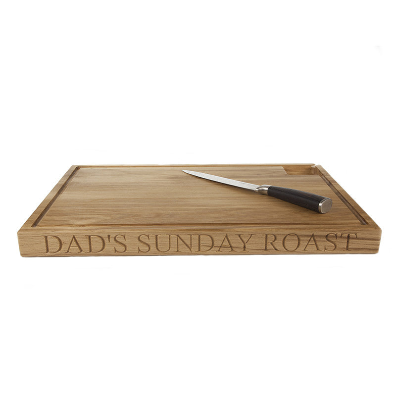 X-Large Personalised Carving Board - The Engraved Oak Company