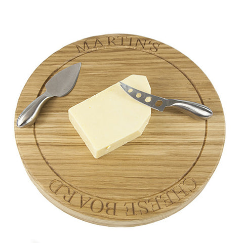 Large Engraved Cheese Board