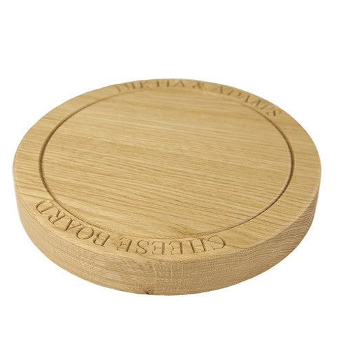 Small Cheese Board - The Engraved Oak Company