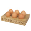 1/2 Dozen Egg Tray - The Engraved Oak Company