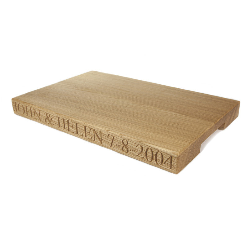 Large personalised chopping board - The Engraved Oak Company