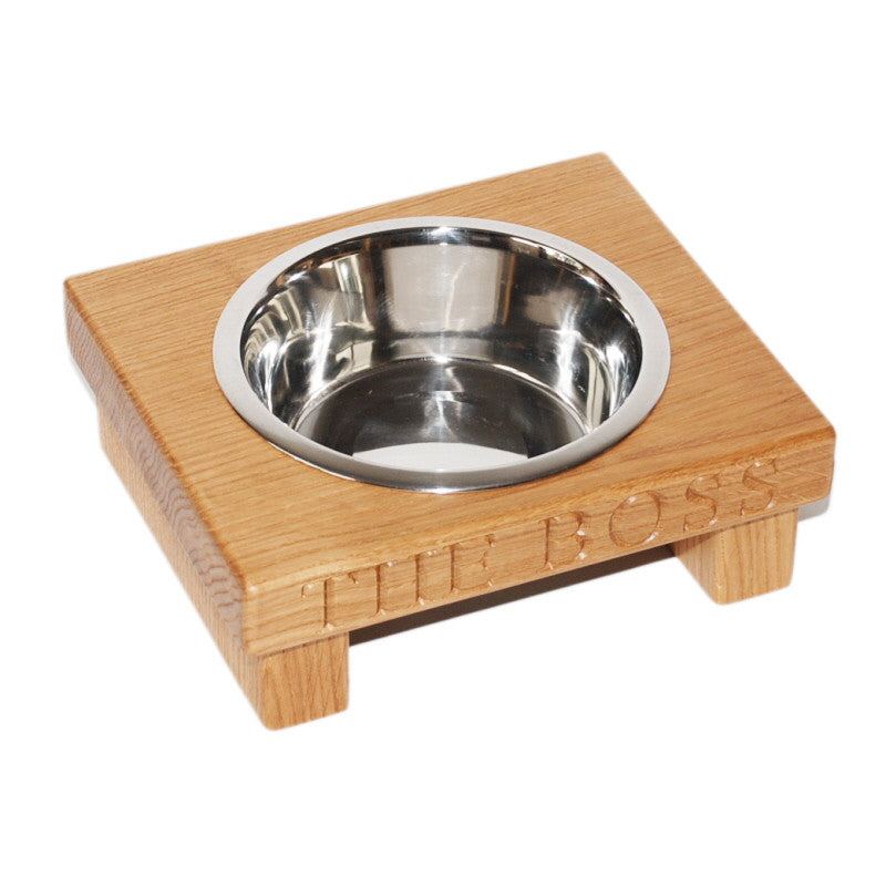 Large Single Dog Bowl - The Engraved Oak Company