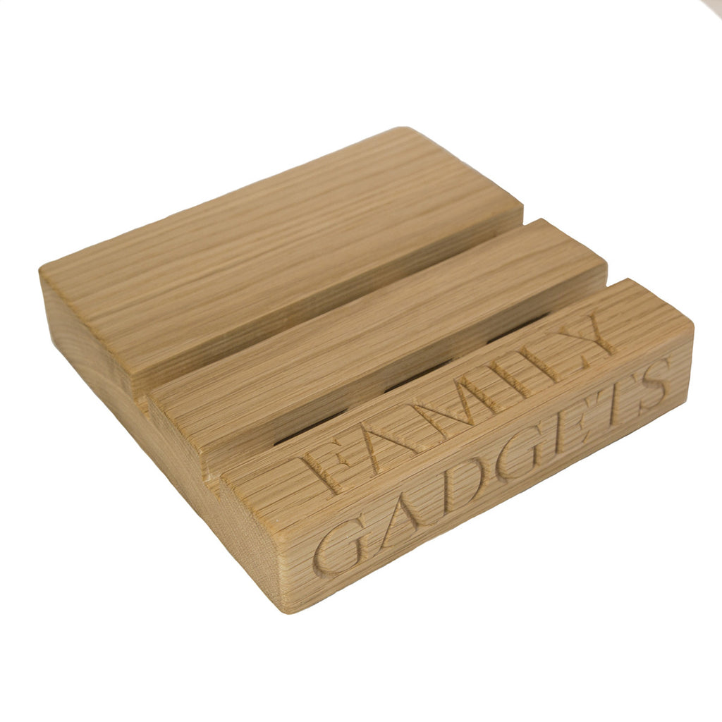 Phone & Tablet Stand - The Engraved Oak Company
