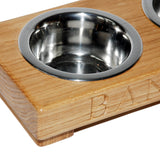 Small Double Dog Bowl - The Engraved Oak Company