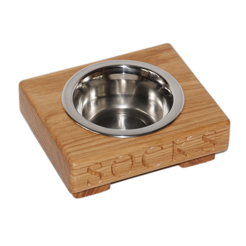 Small Single Dog Bowl - The Engraved Oak Company