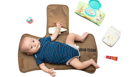 Tactical changing mat diaper change