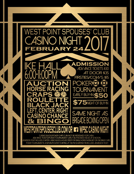 West Point Spouses Club Casino Night 2017