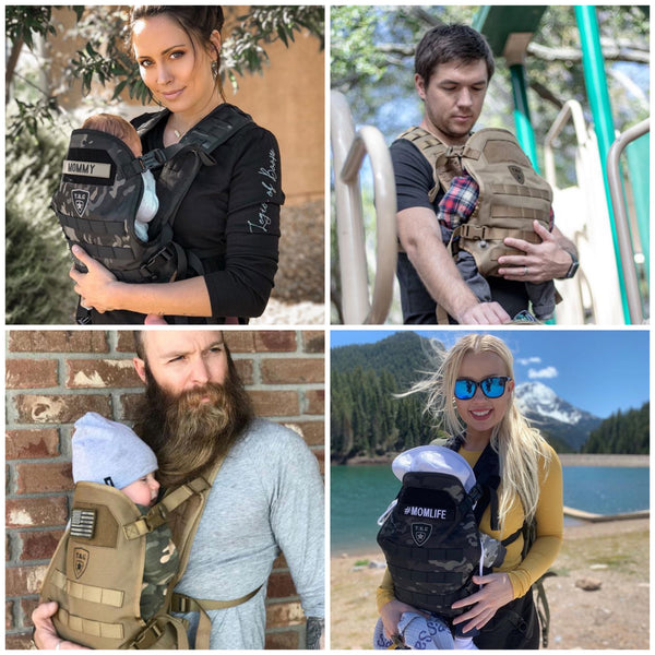 tactical baby carrier, baby carrier for dads, cool baby carrier