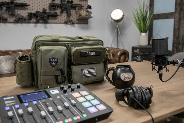 tactical baby gear podcast setup