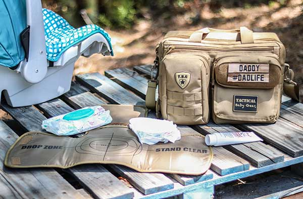 Tactical Baby Gear Deuce 2.0 Tactical Diaper Bag with Changing Mat Lifestyle