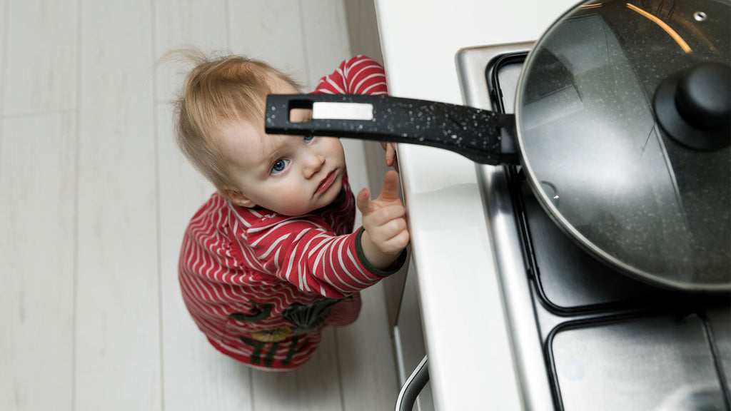 baby proofing kitchen and stove