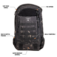 Black Camo baby bag backpack with diaper changing mat