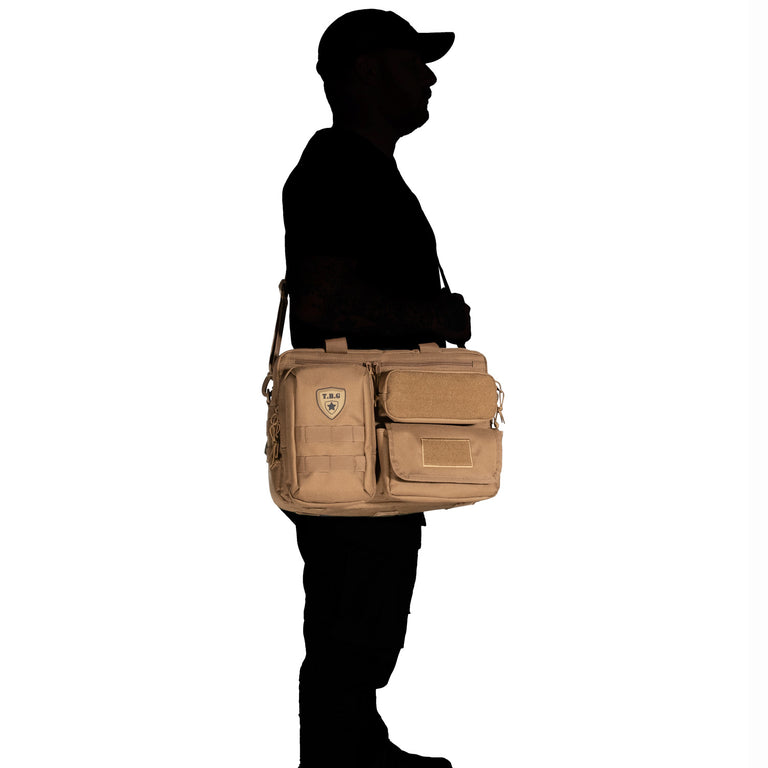 Tactical diaper bag for dads with molle and shoulder strap