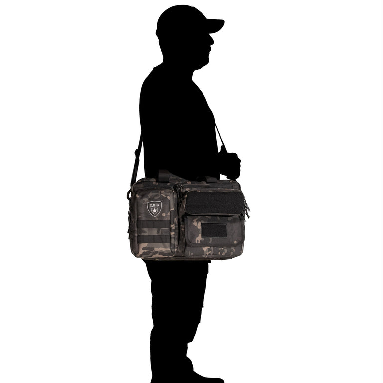 Cool Black Camo diaper bag for dad and baby