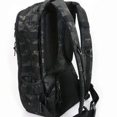 Cool black camo mens diaper bag backpack with baby changing pad