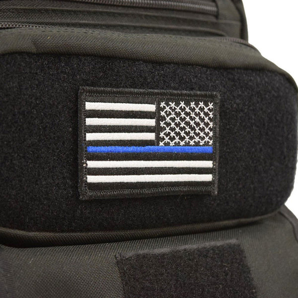Reversed Thin Blue Line USA Flag Velcro Patch