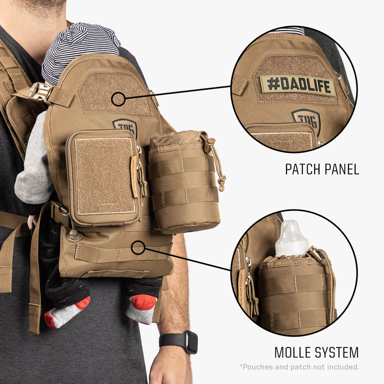 Deuce 2.0 Tactical Diaper Bag® + Baby Carrier Bundle
