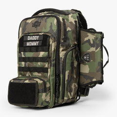 MOD Backpack + Tactical Wipe Panel Kit (Woodlands Camo)