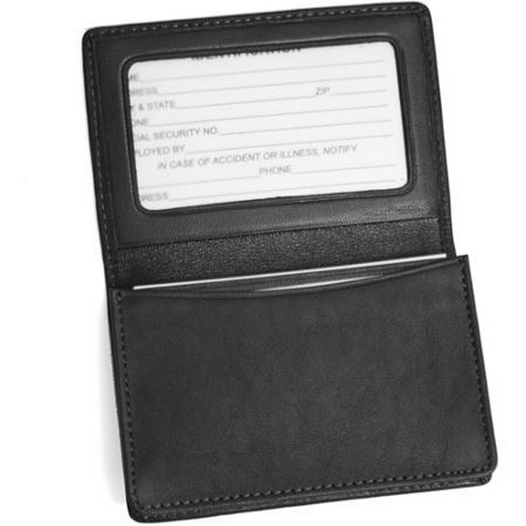Royce Leather Executive Business Card Case with ID Display in ...