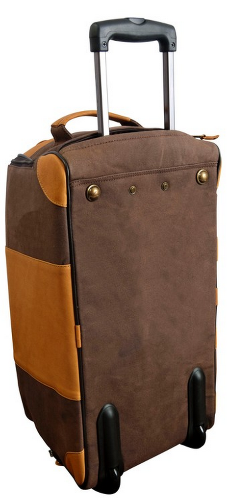 f3f02f93dfc1 Canyon Outback Sandstone Switzer Canyon Leather Canvas Rolling Carry-On  Brown