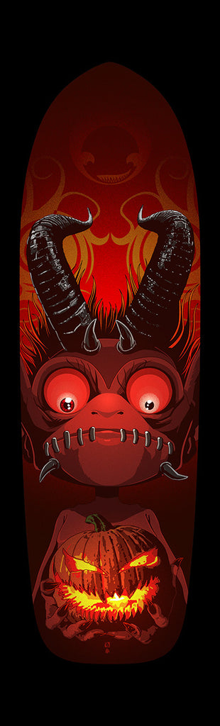 """The Offering"" Custom Skateboard Deck by The Dark Inker"