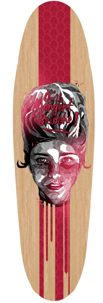 """Marie Antoinette"" Custom Skateboard Deck by Simon Delart"