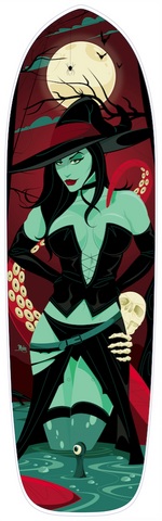 """Wicked Wendy"" Custom Skateboard Deck by Mike Mahle"