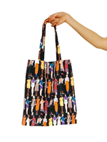Pochois Fashion Sketch Print Cotton Tote Bag