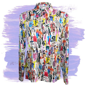 Watercolor Fashion Sketch Blouse
